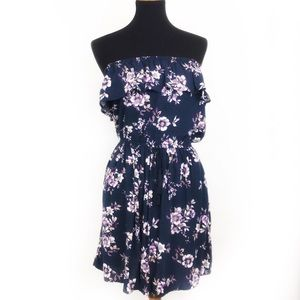 Strapless Floral Dress by Mossimo
